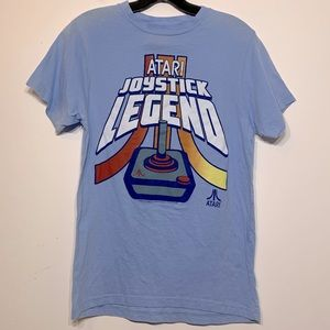 Retro look Atari Joystick Legend pale blue T-shirt
